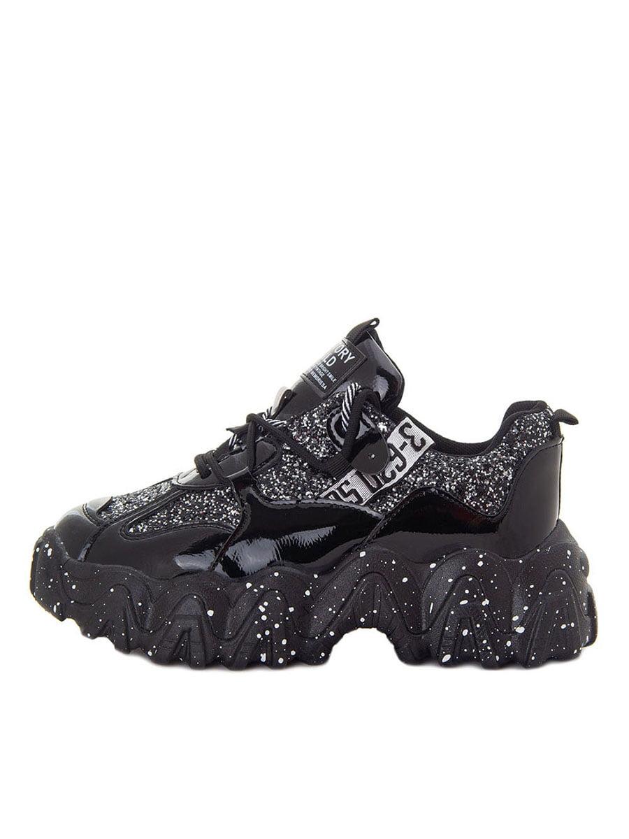 Кросівки чорні в принт-напилення | 5549033