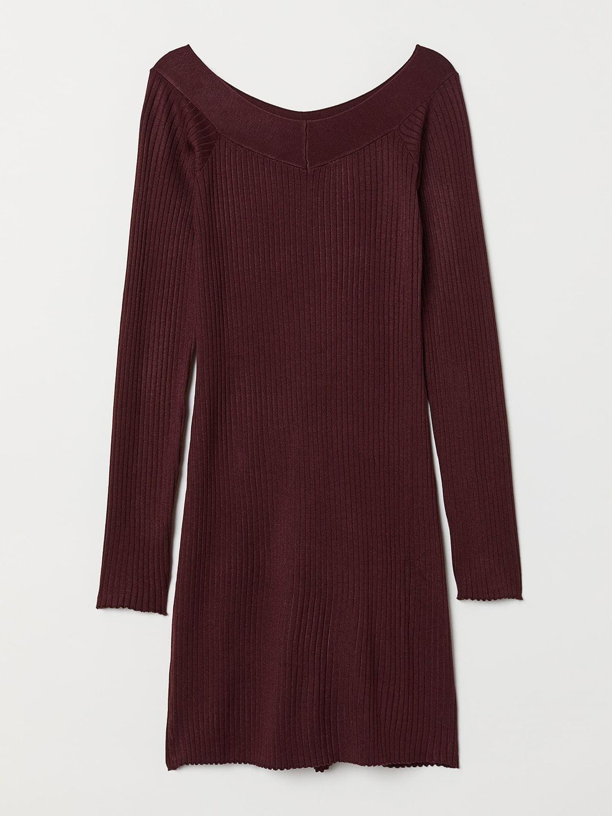 Платье бордовое | 5551823