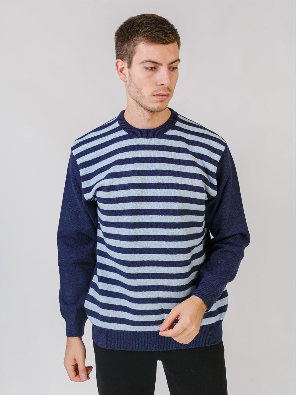 Джемпер джинсового кольору в смужку | 5548614