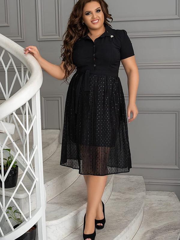 Платье черное в горошек | 5560474