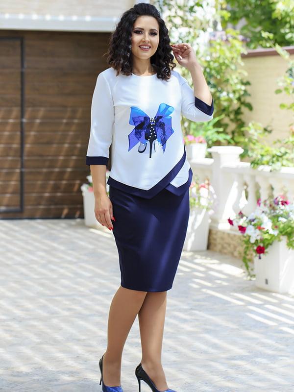 Костюм: блуза і спідниця | 5560663
