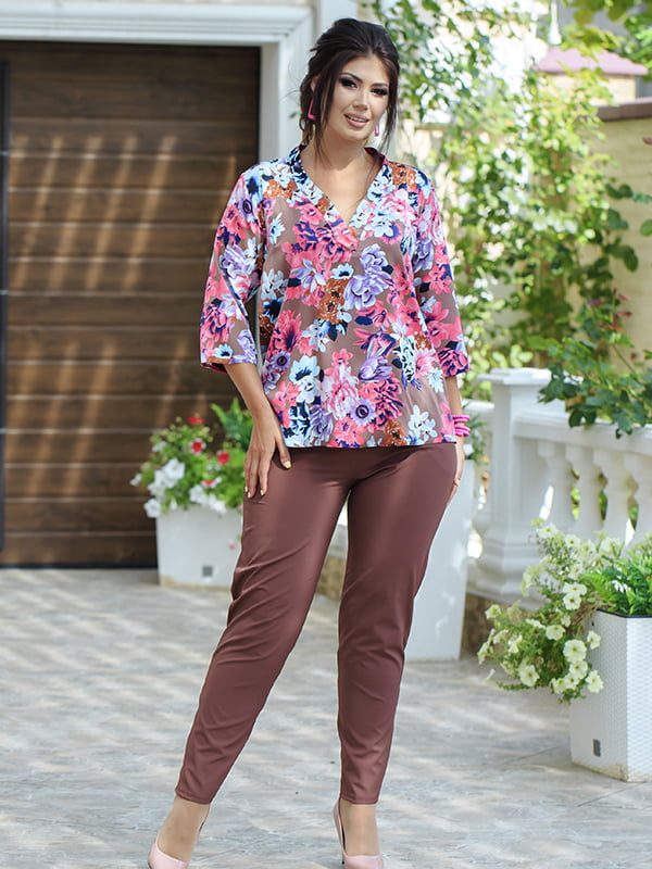 Костюм: блуза и брюки | 5560913