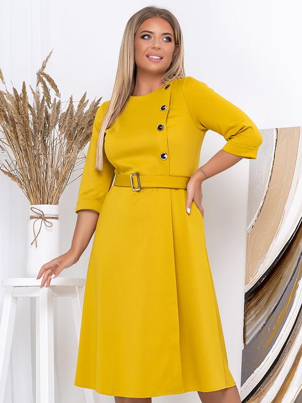 Платье горчичного цвета   5560983