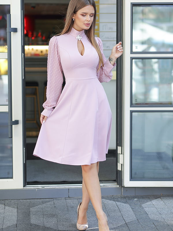 Платье пудрового цвета | 5561012