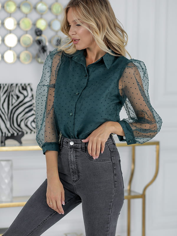 Блуза изумрудного цвета | 5561032