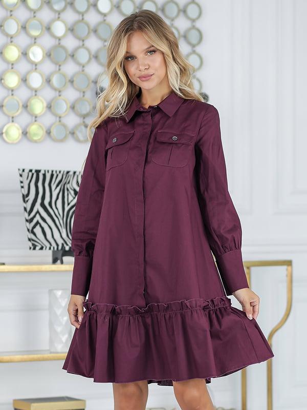 Платье цвета марсала | 5561043