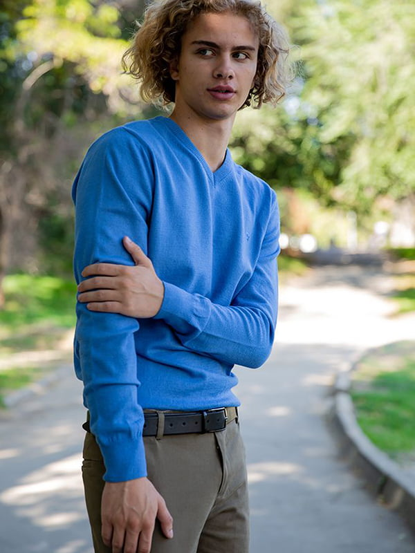 Пуловер голубой | 5553690