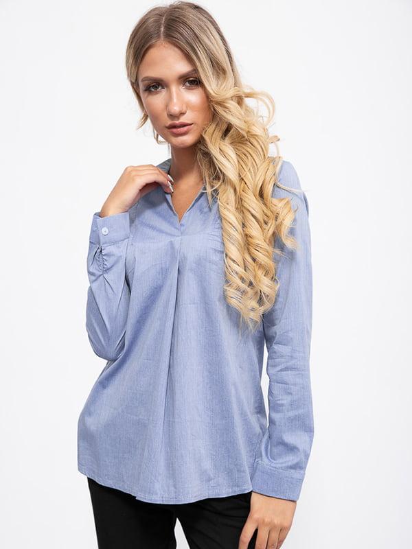 Блуза цвета джинс | 5553709