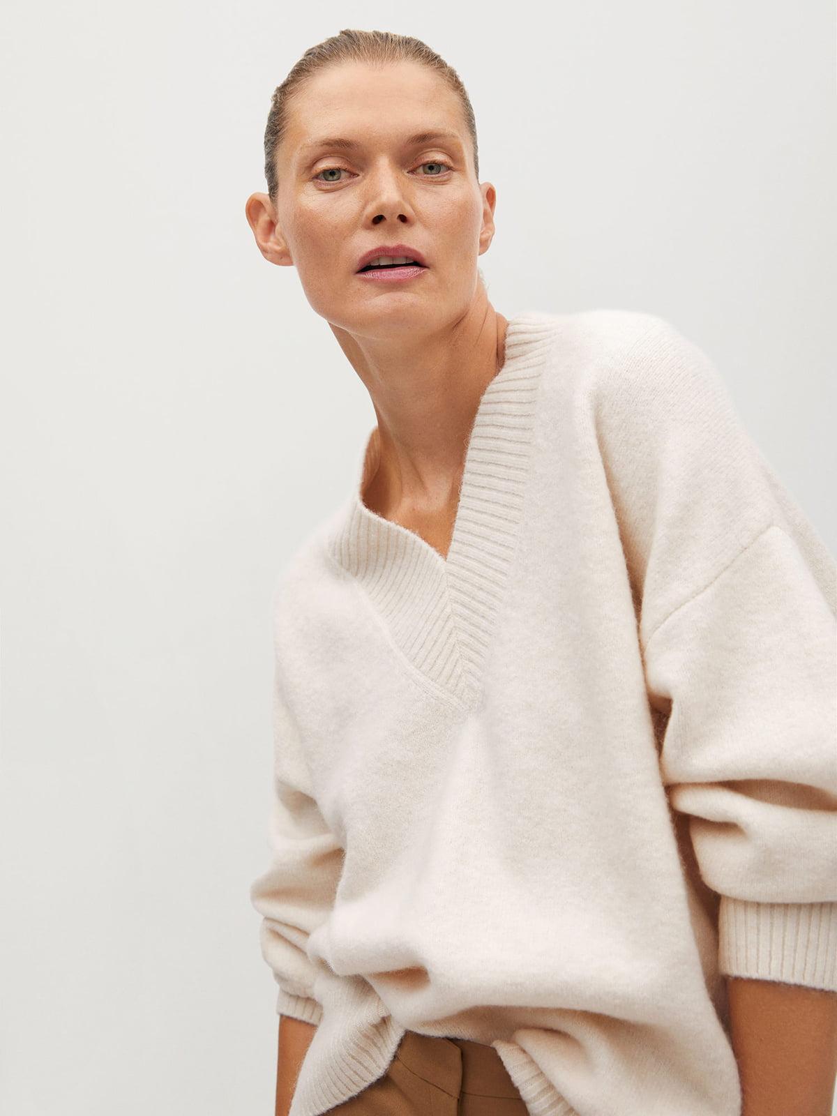 Пуловер светло-бежевый   5561368