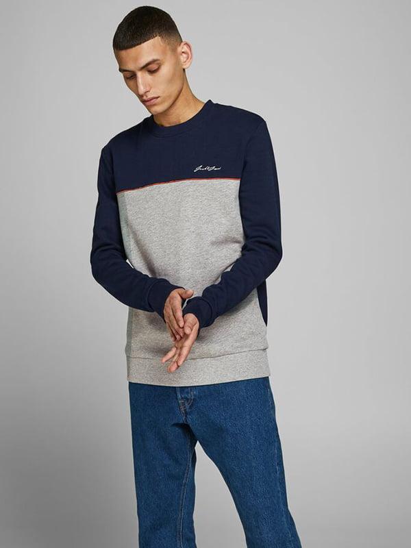 Джемпер сине-серый   5562166