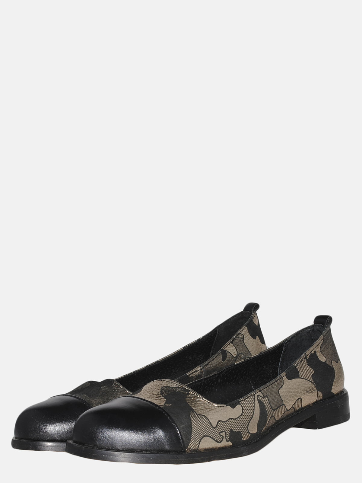Туфлі чорні в камуфляжний принт   5554965