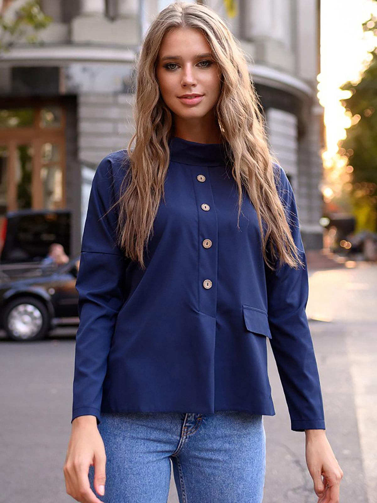 Блуза синяя | 5564938