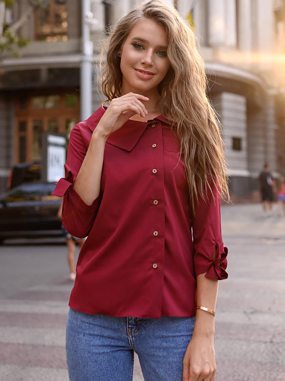 Блуза цвета марсала | 5564939
