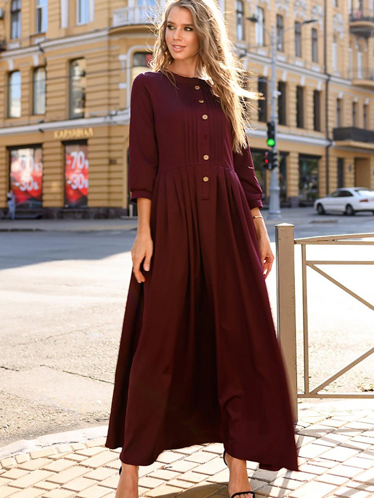 Платье цвета марсала | 5564944
