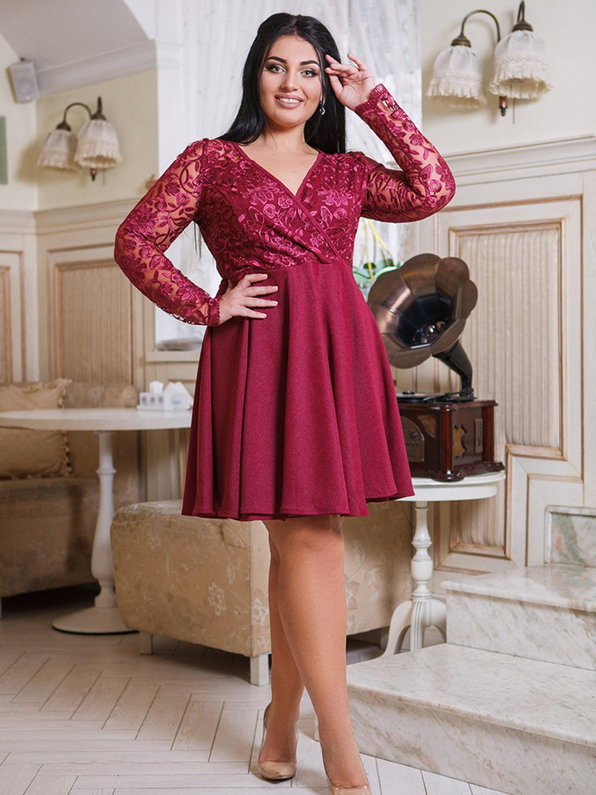 Платье цвета марсала | 5564955