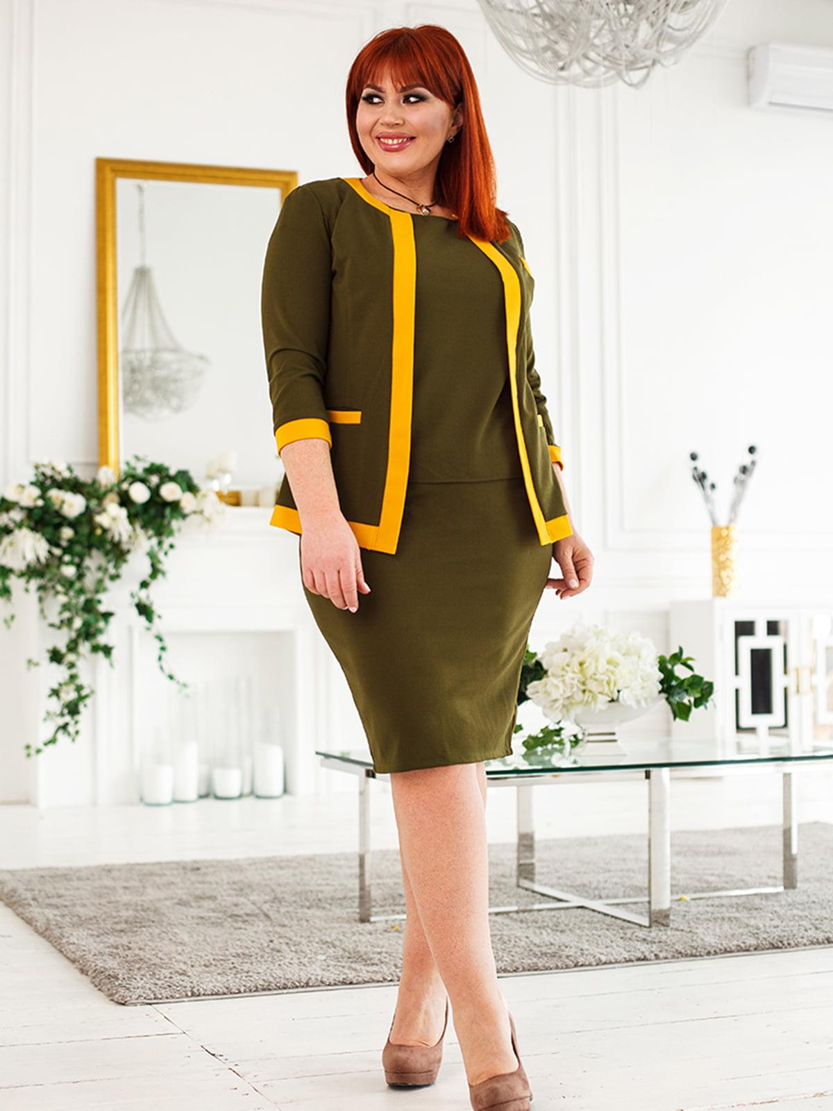Костюм: блуза, жакет и юбка | 5564973