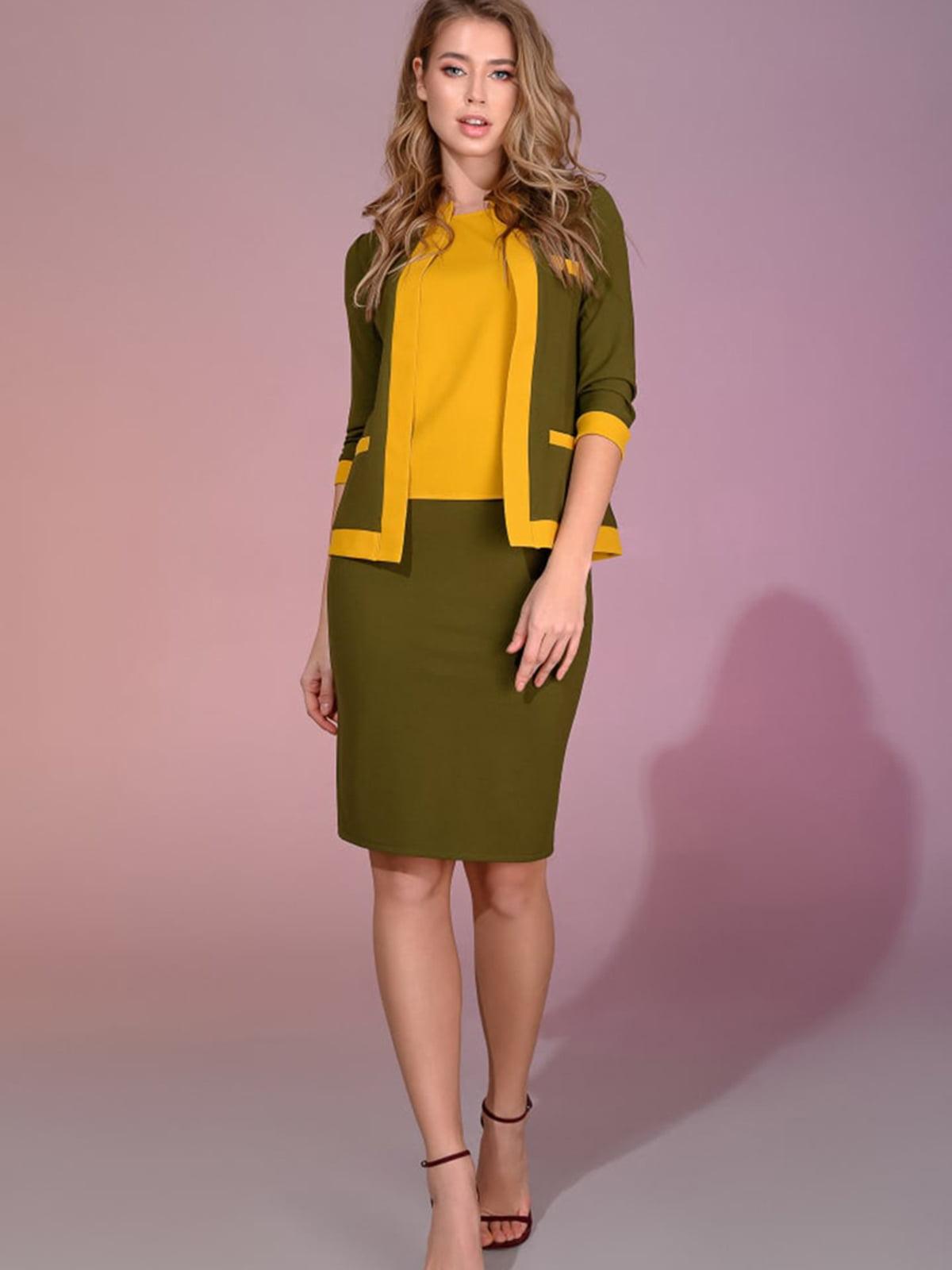 Костюм: блуза, жакет и юбка   5564975