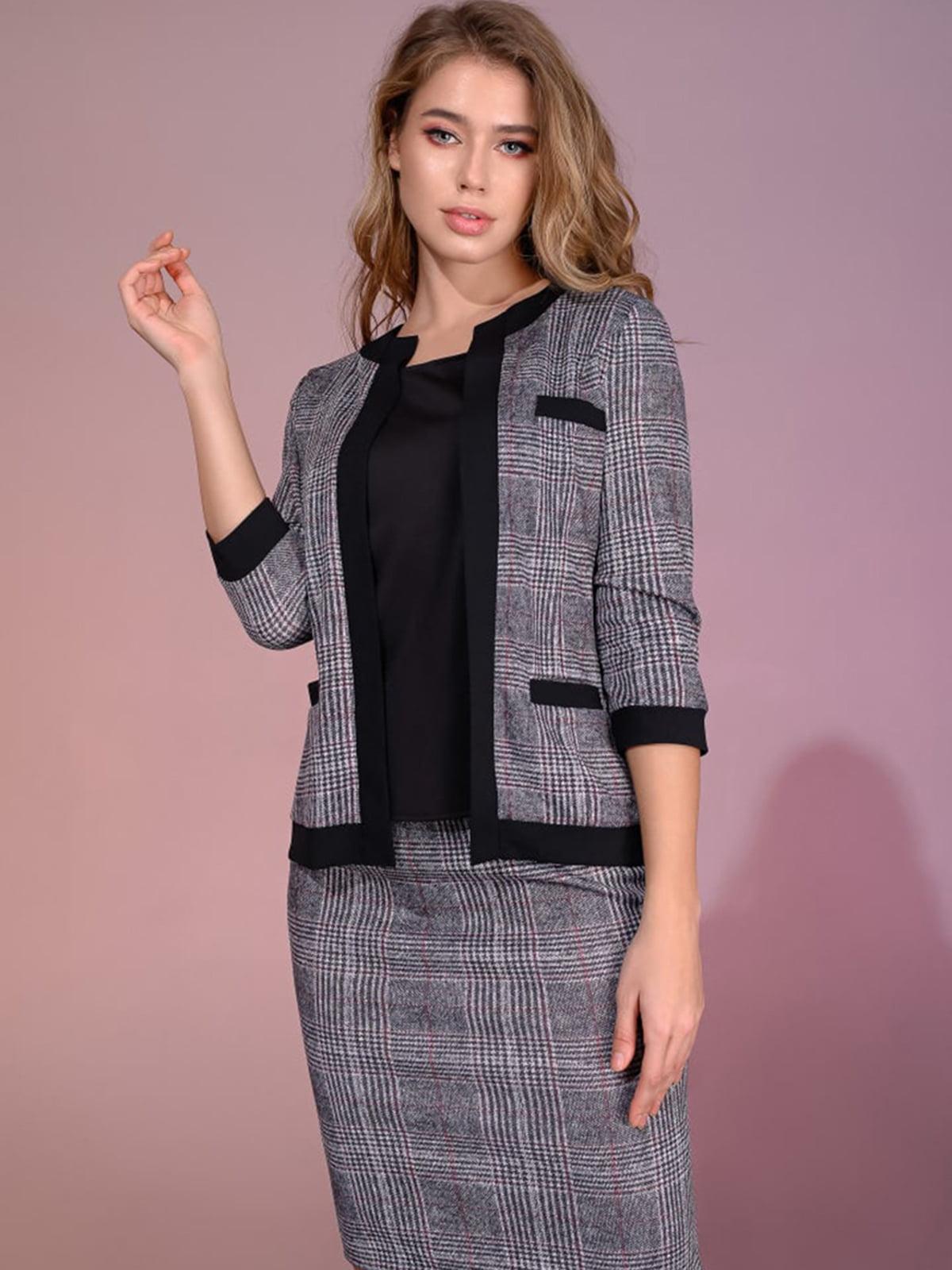 Костюм: блуза, жакет і спідниця | 5564977