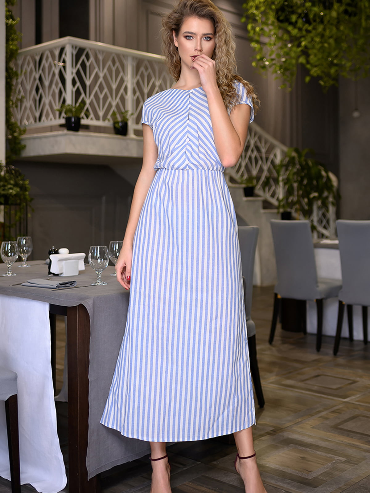 Платье в полоску   5564979