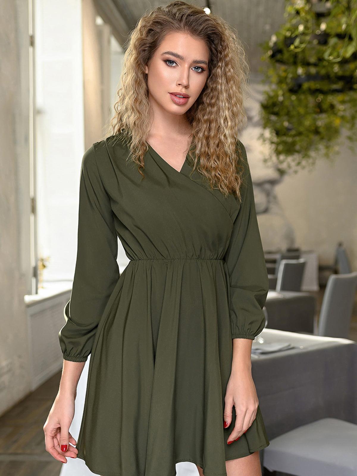 Платье цвета хаки | 5564386