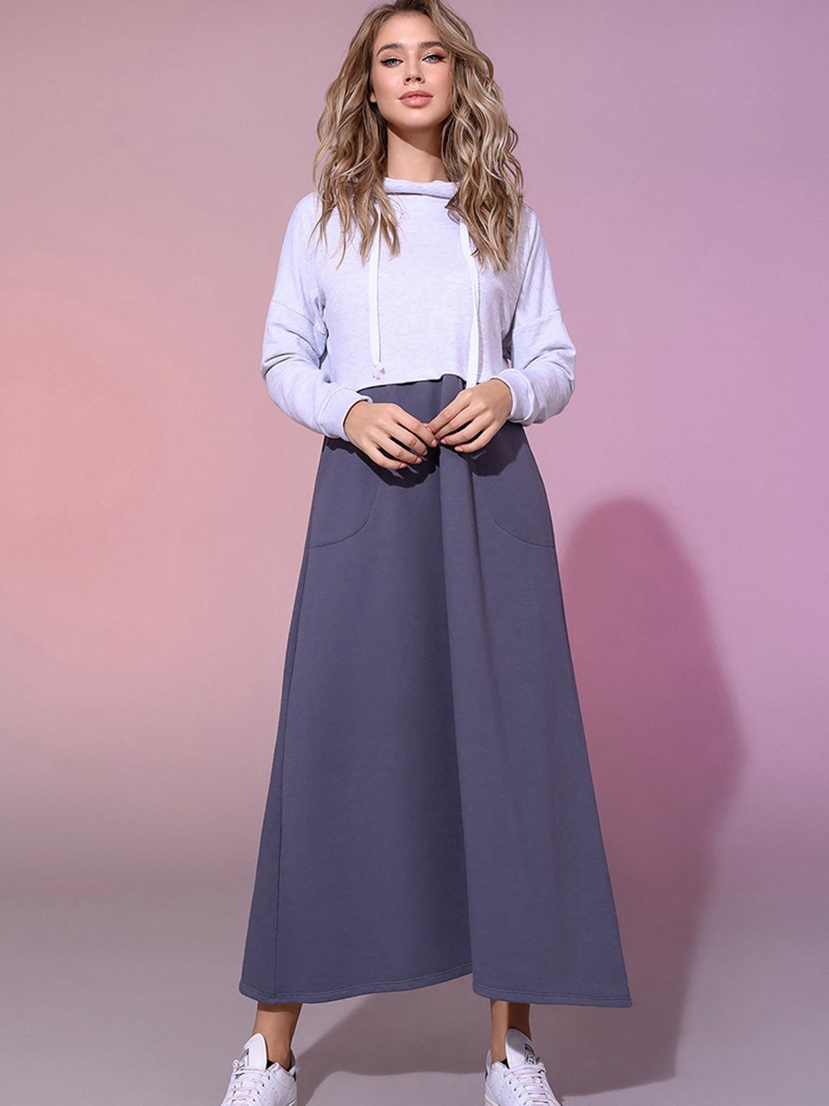 Платье-худи двухцветное | 5564390