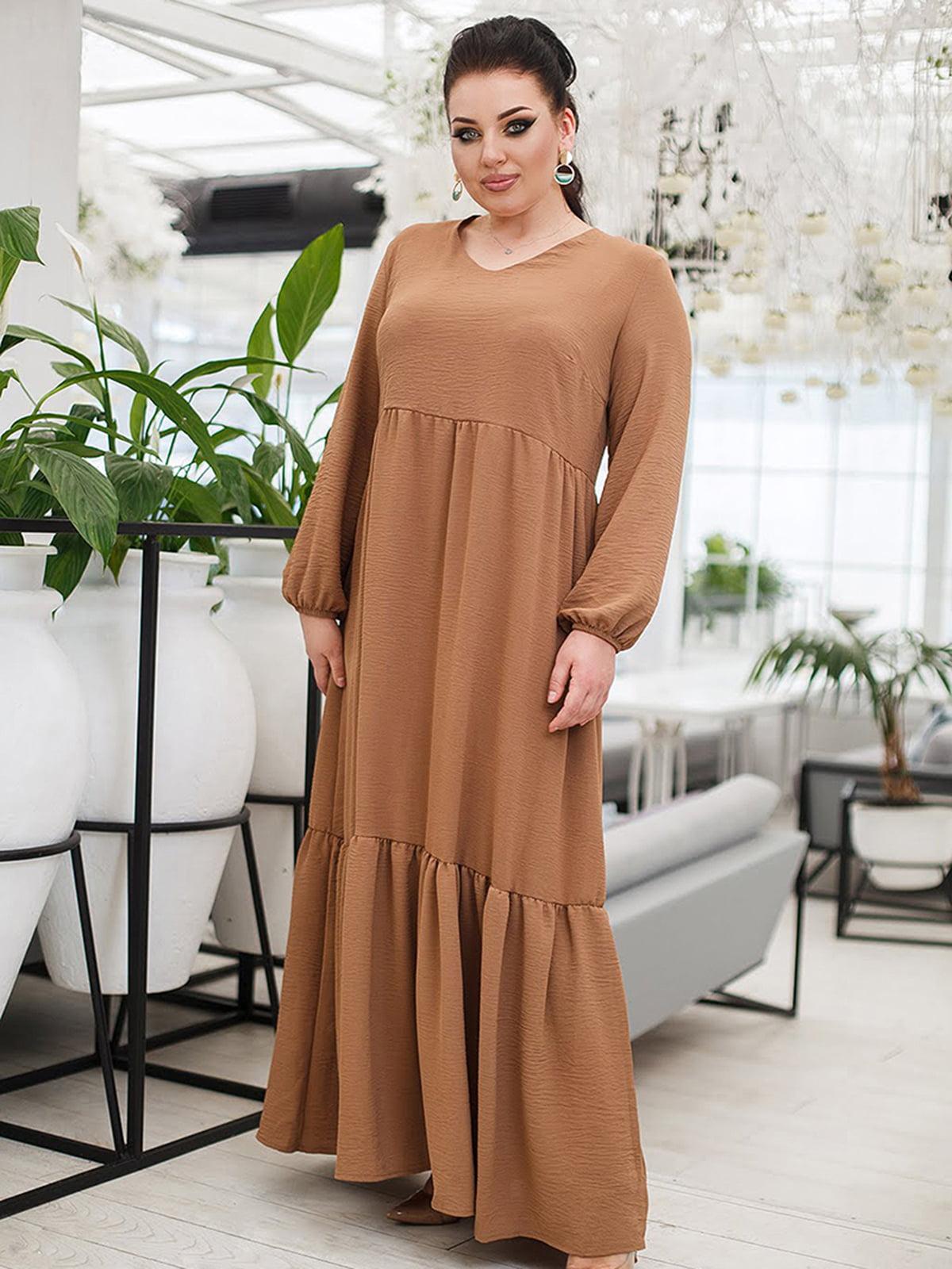 Платье бежевое   5564427