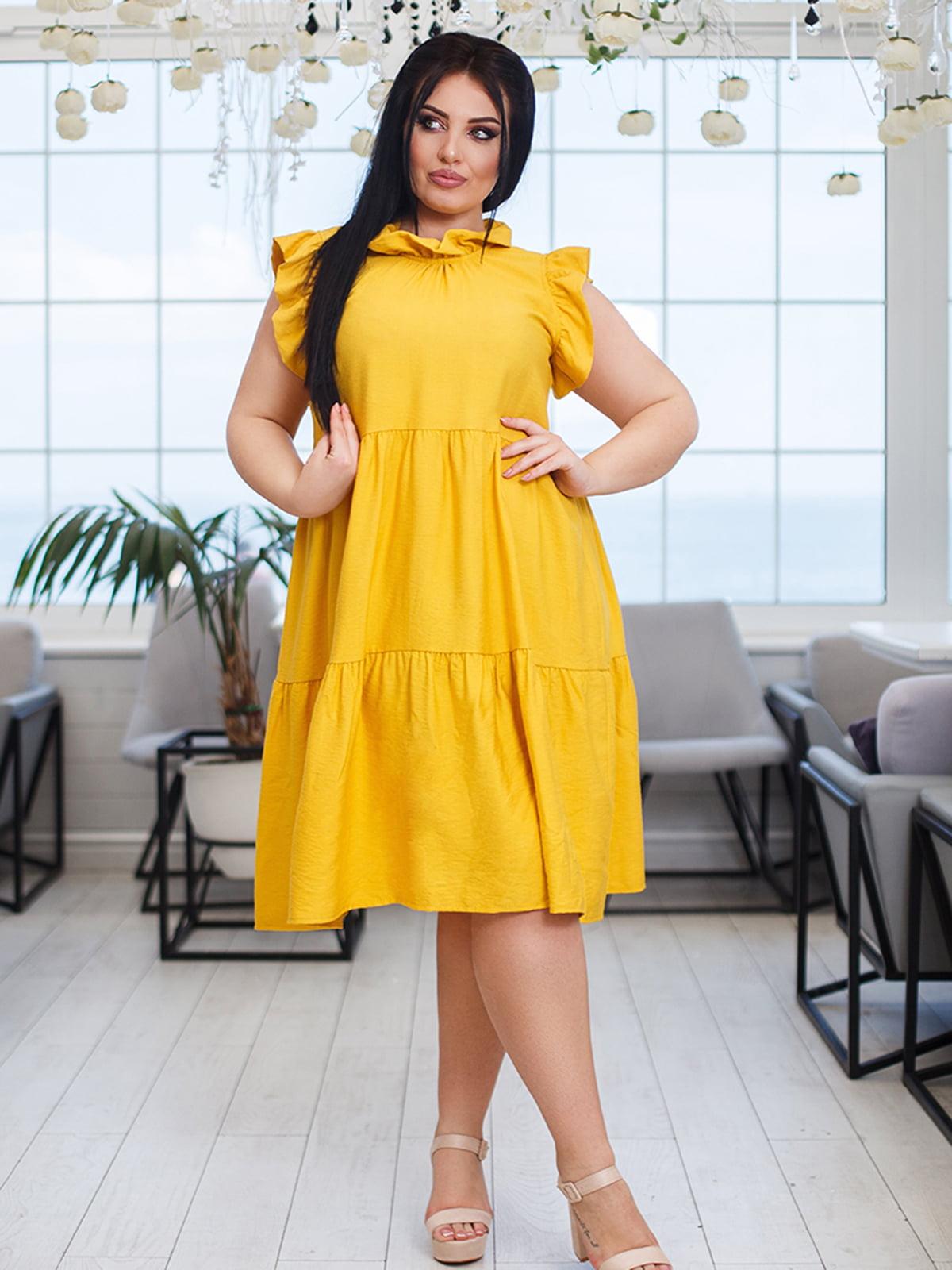 Платье желтое | 5564452