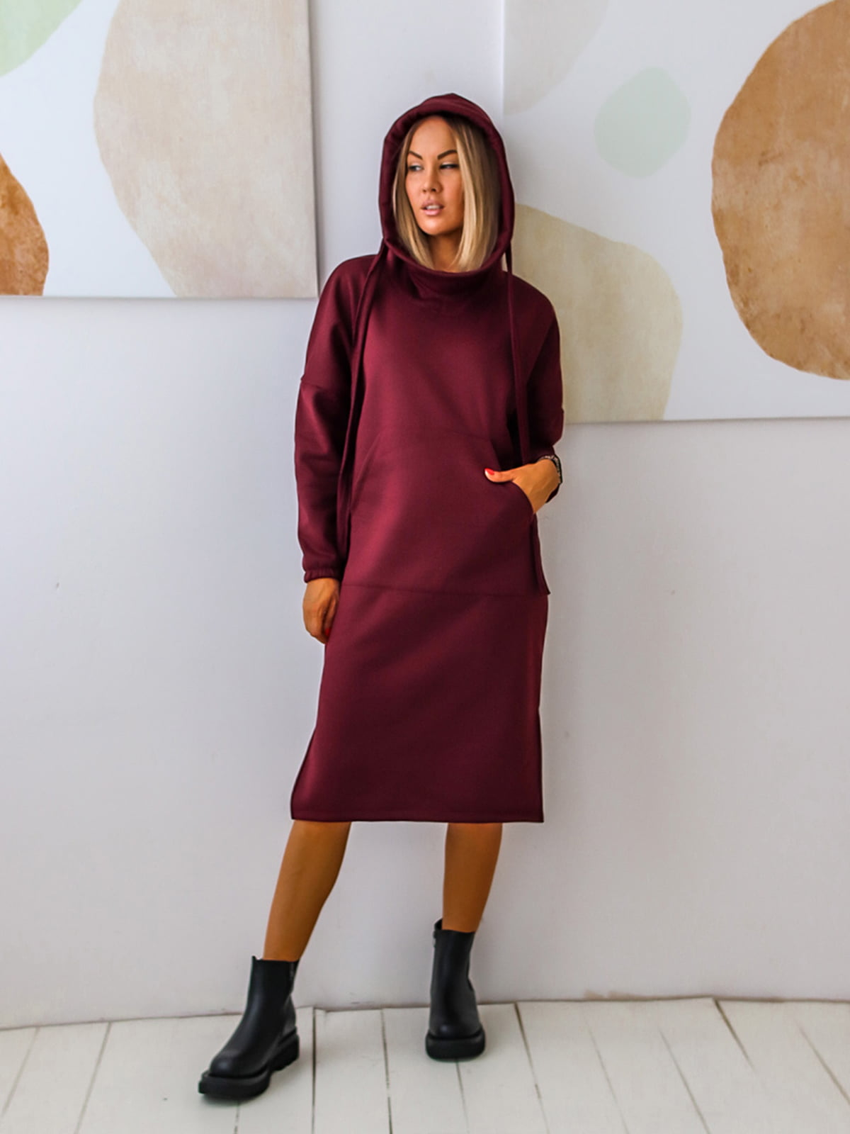 Платье цвета марсала | 5564490