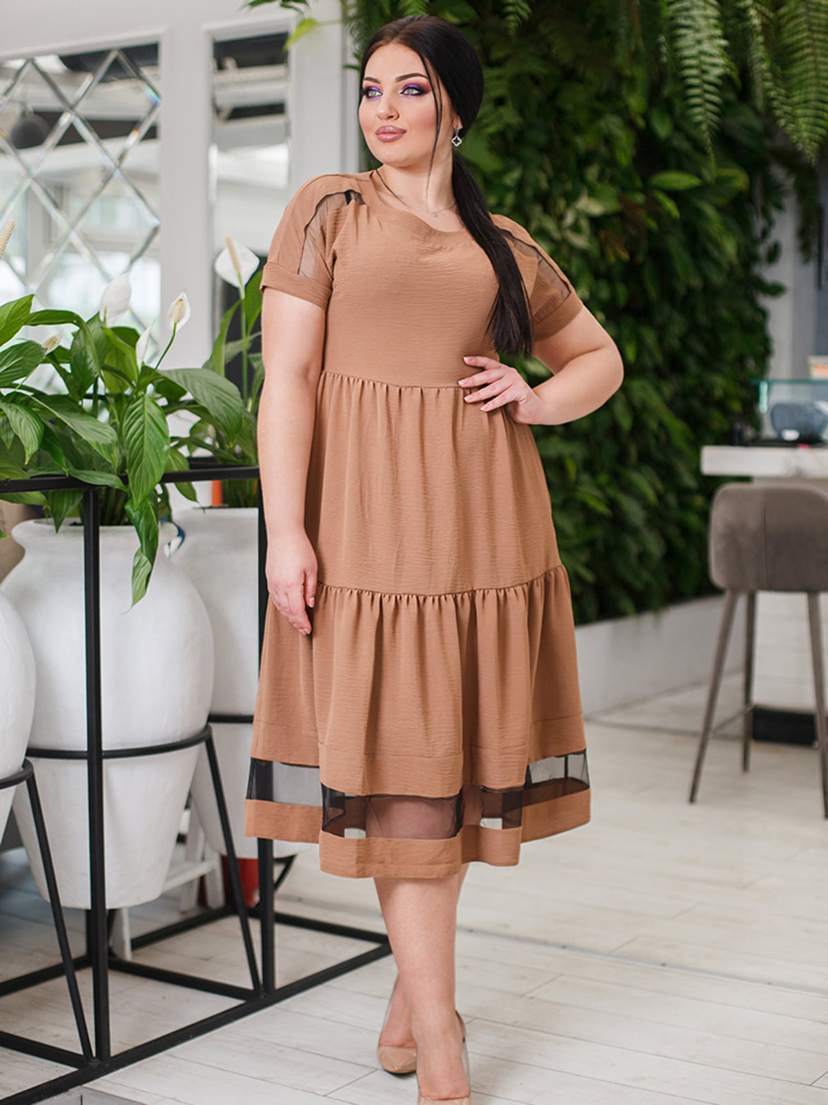 Платье бежевое | 5564764