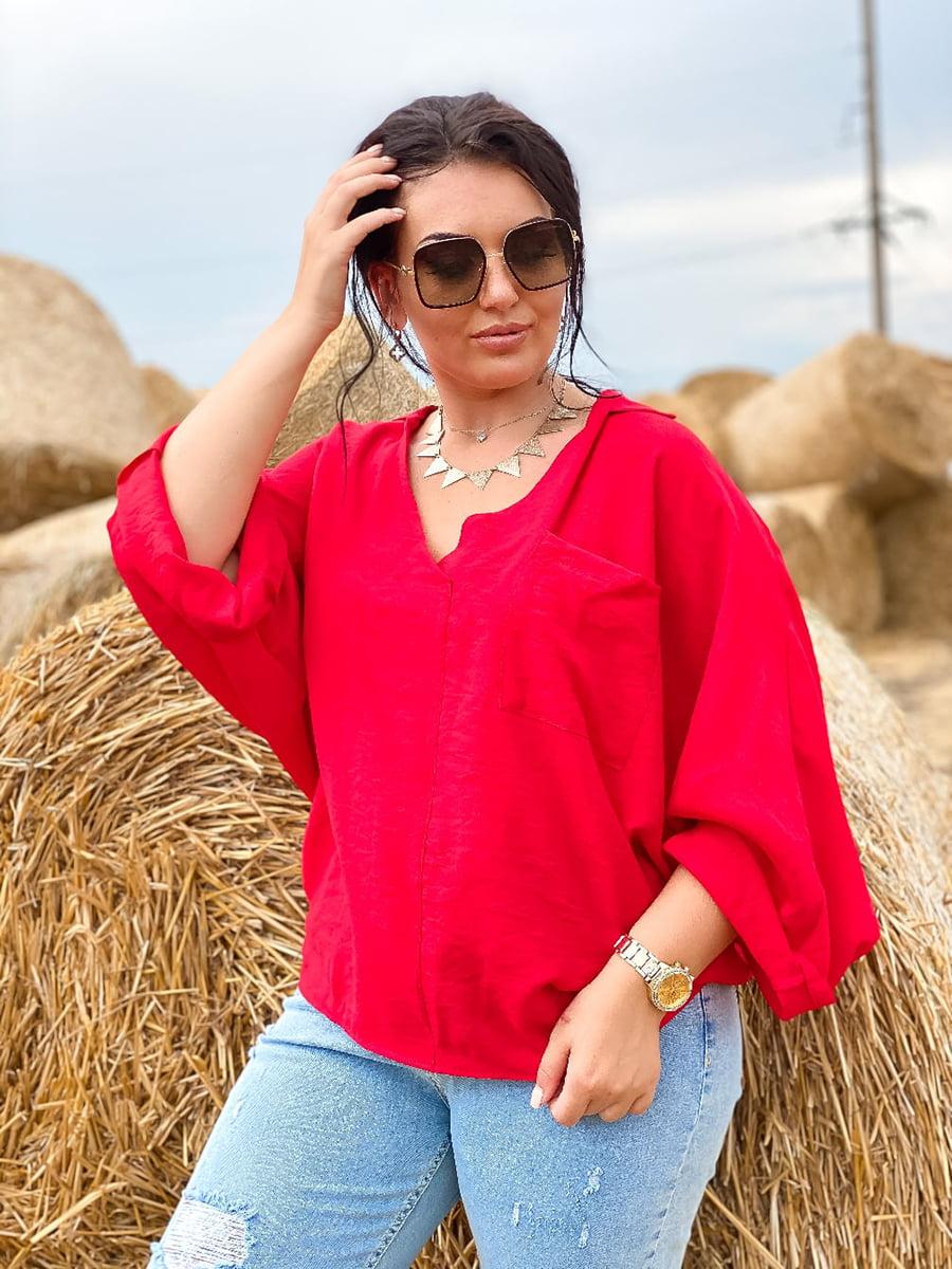 Блуза красная   5564824