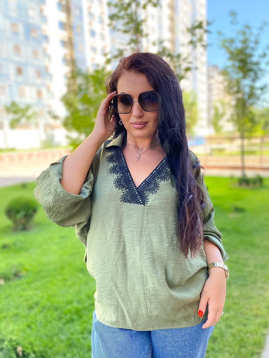 Блуза цвета хаки | 5564833
