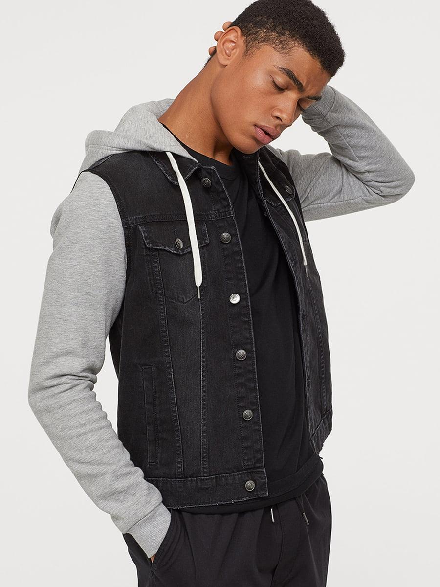 Куртка джинсовая черно-серая | 5568786