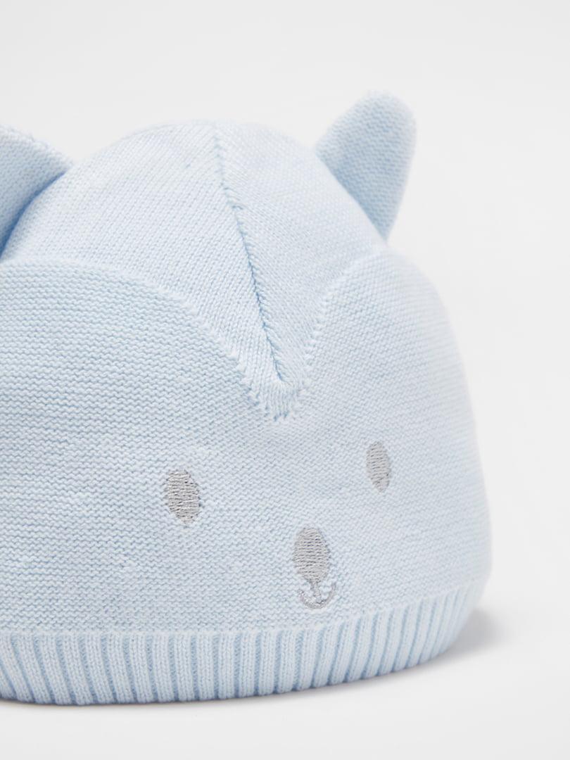 Шапка голубая с рисунком | 5561610