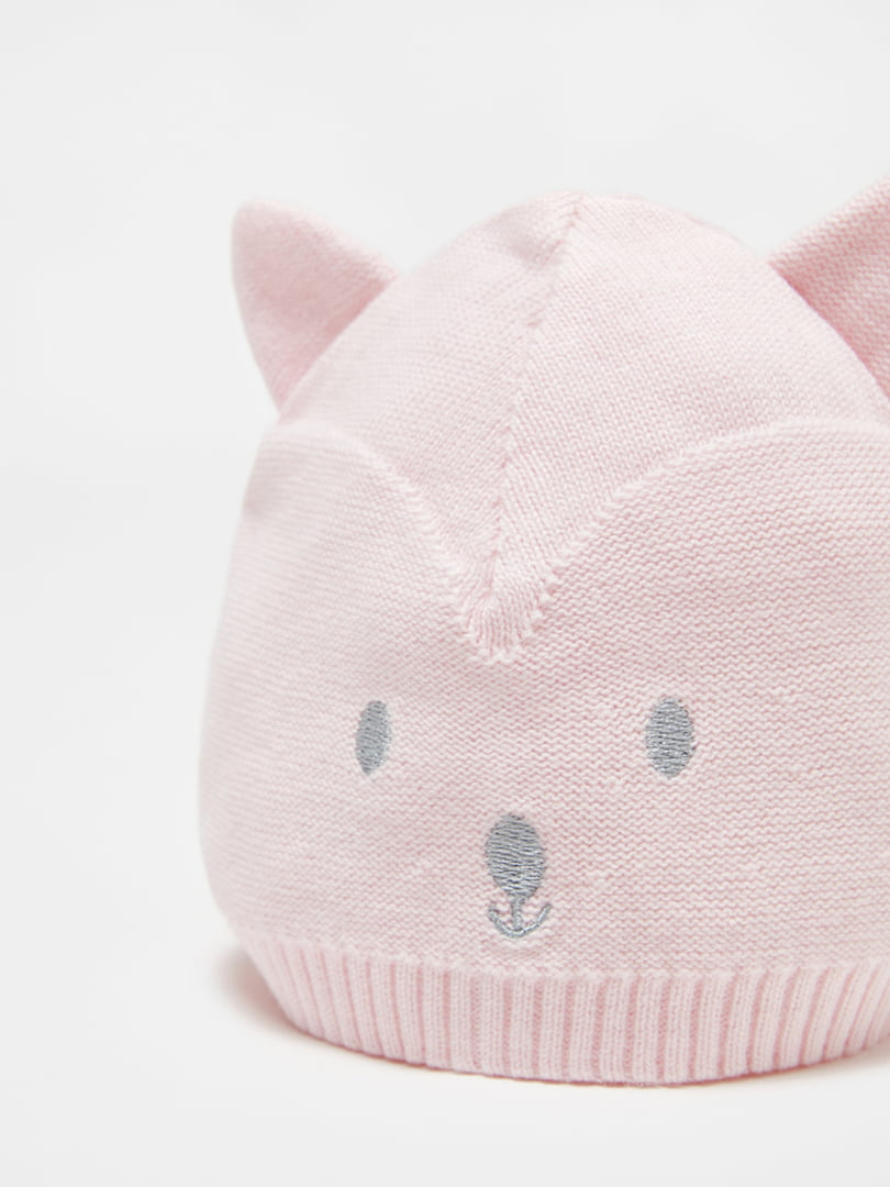 Шапка розовая с рисунком   5561611