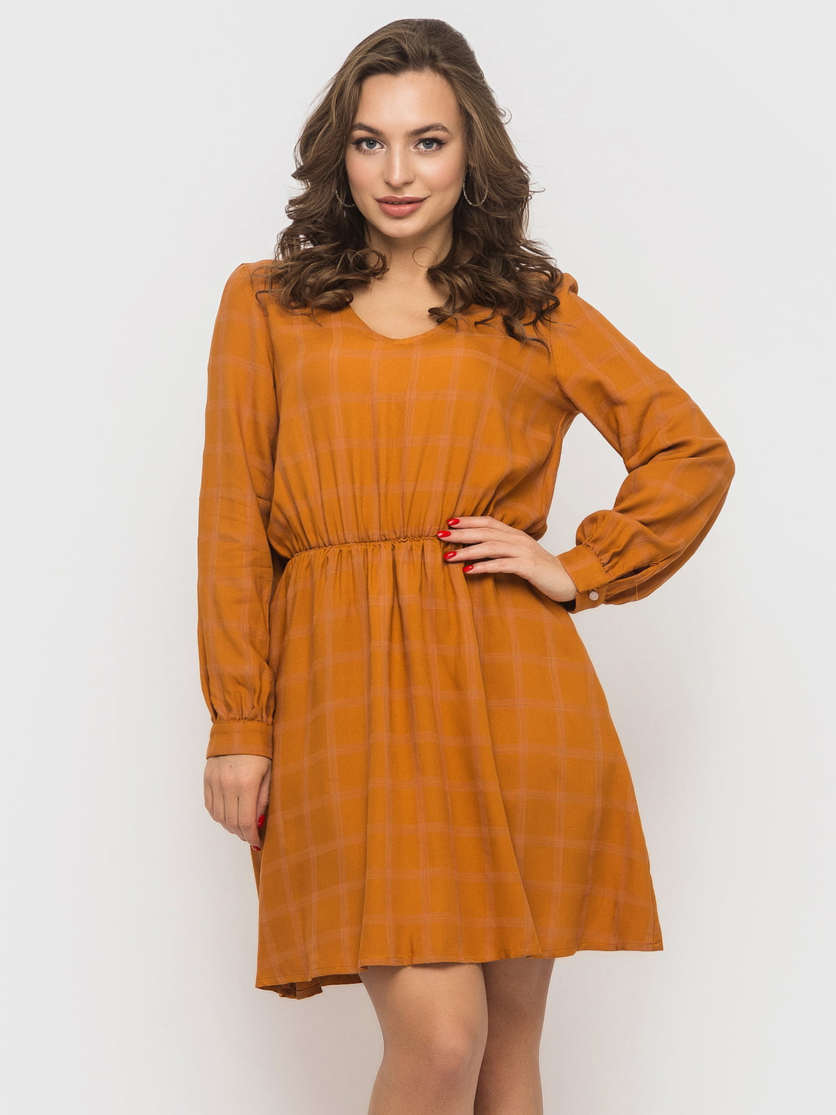 Платье цвета горчицы | 5570993