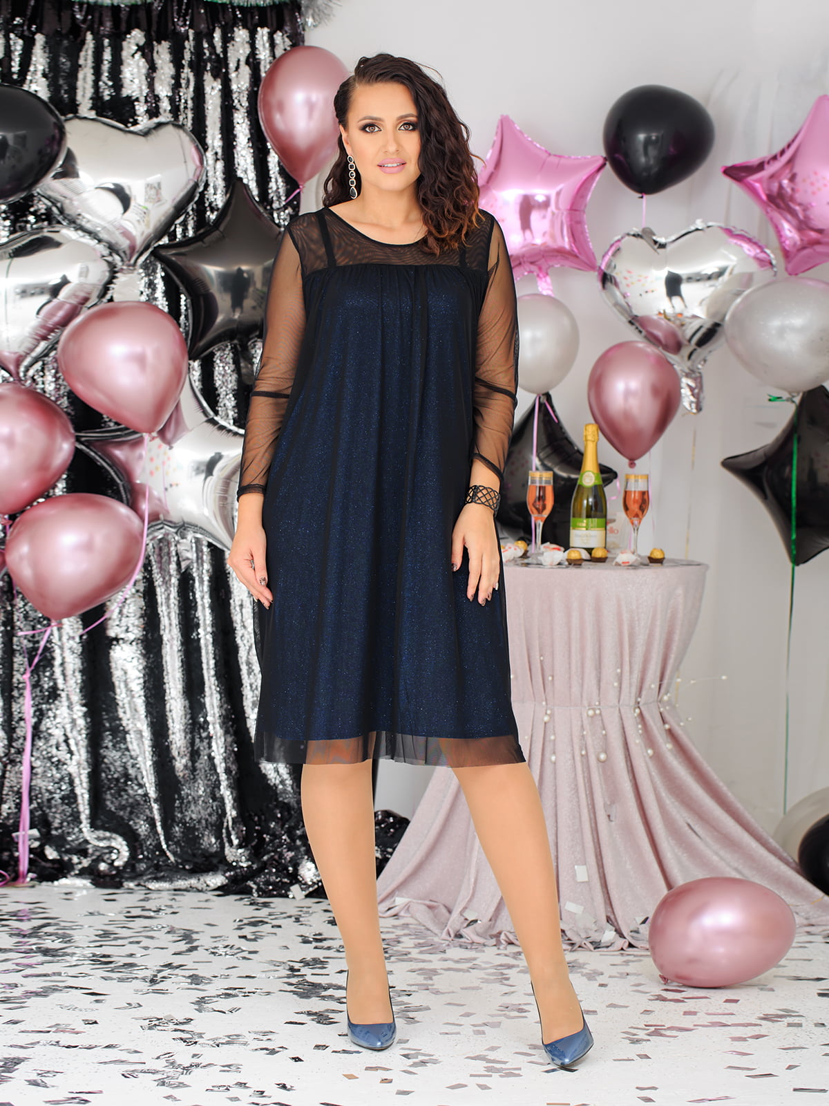 Платье комбинированной расцветки | 5574203