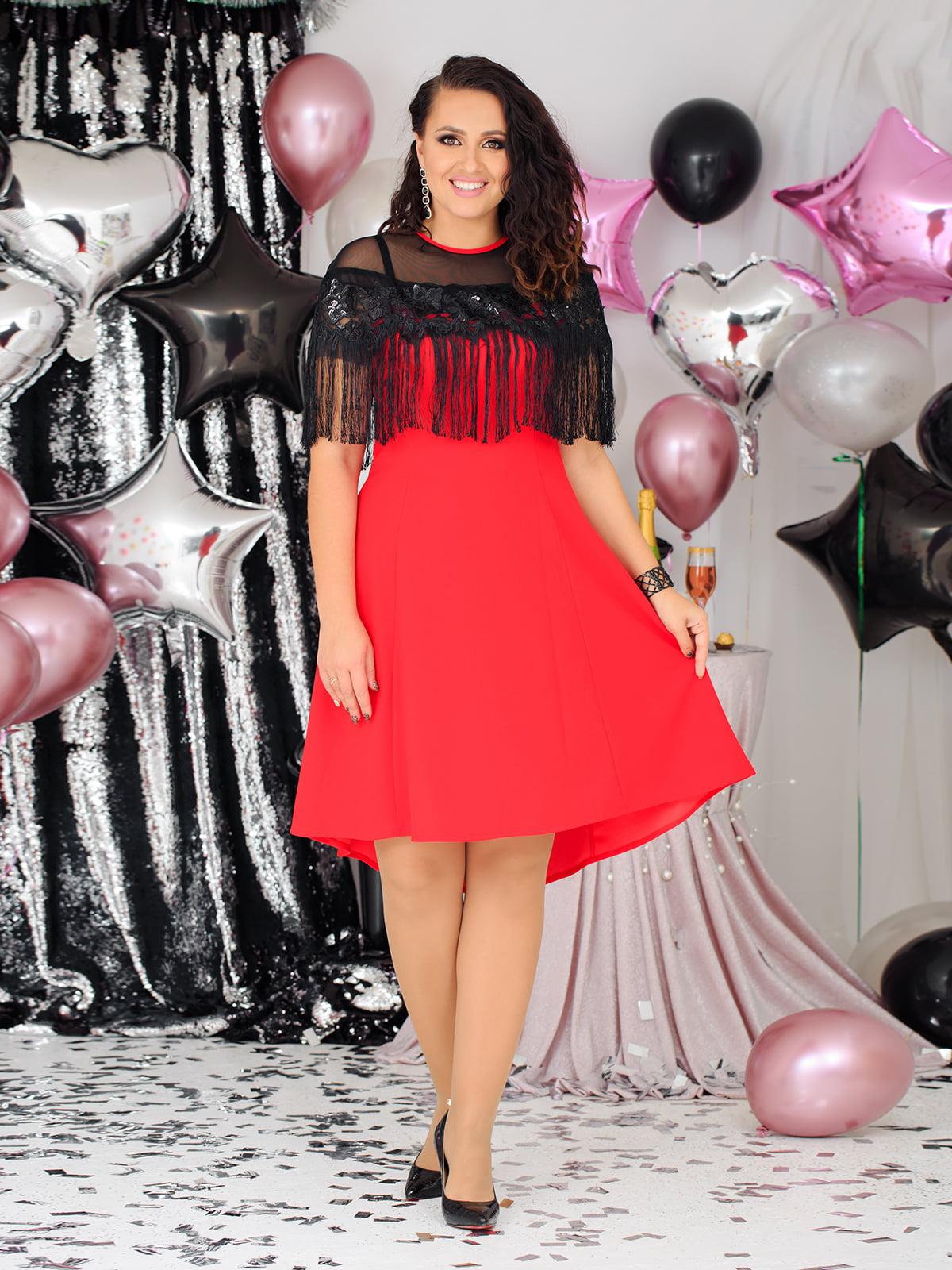 Платье комбинированной расцветки | 5574209