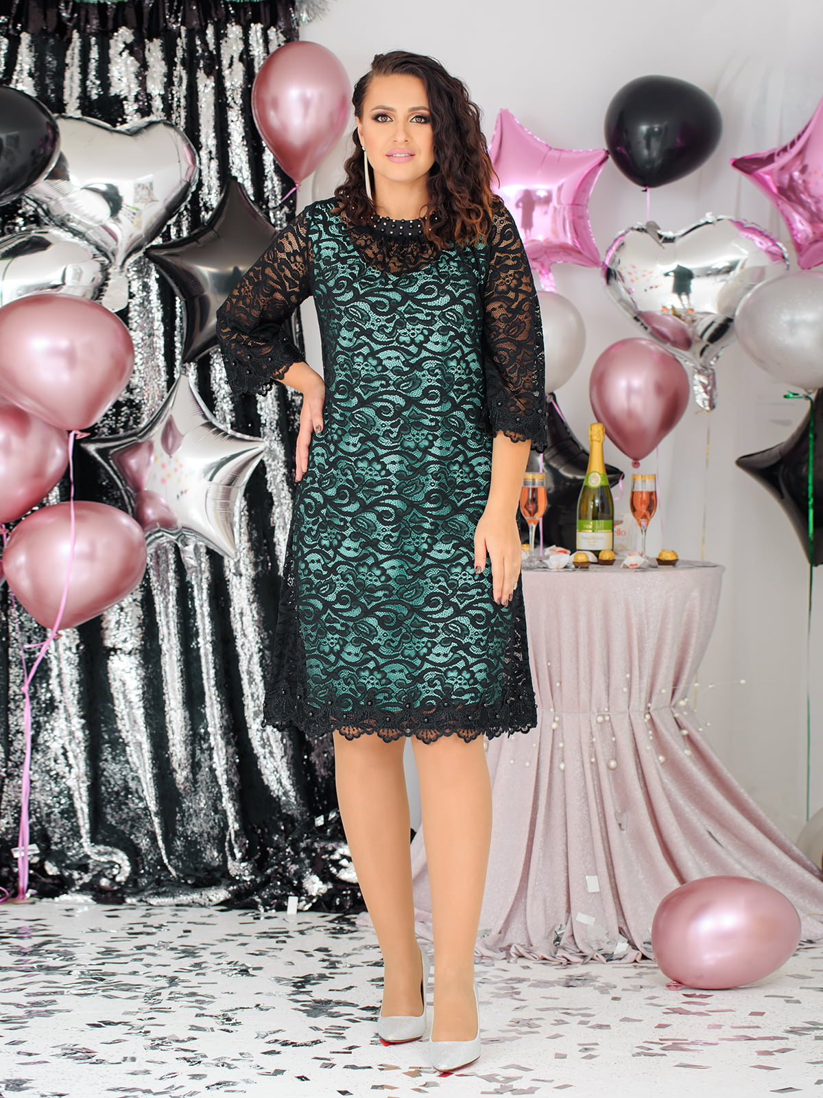 Сукня комбінованого забарвлення | 5574213