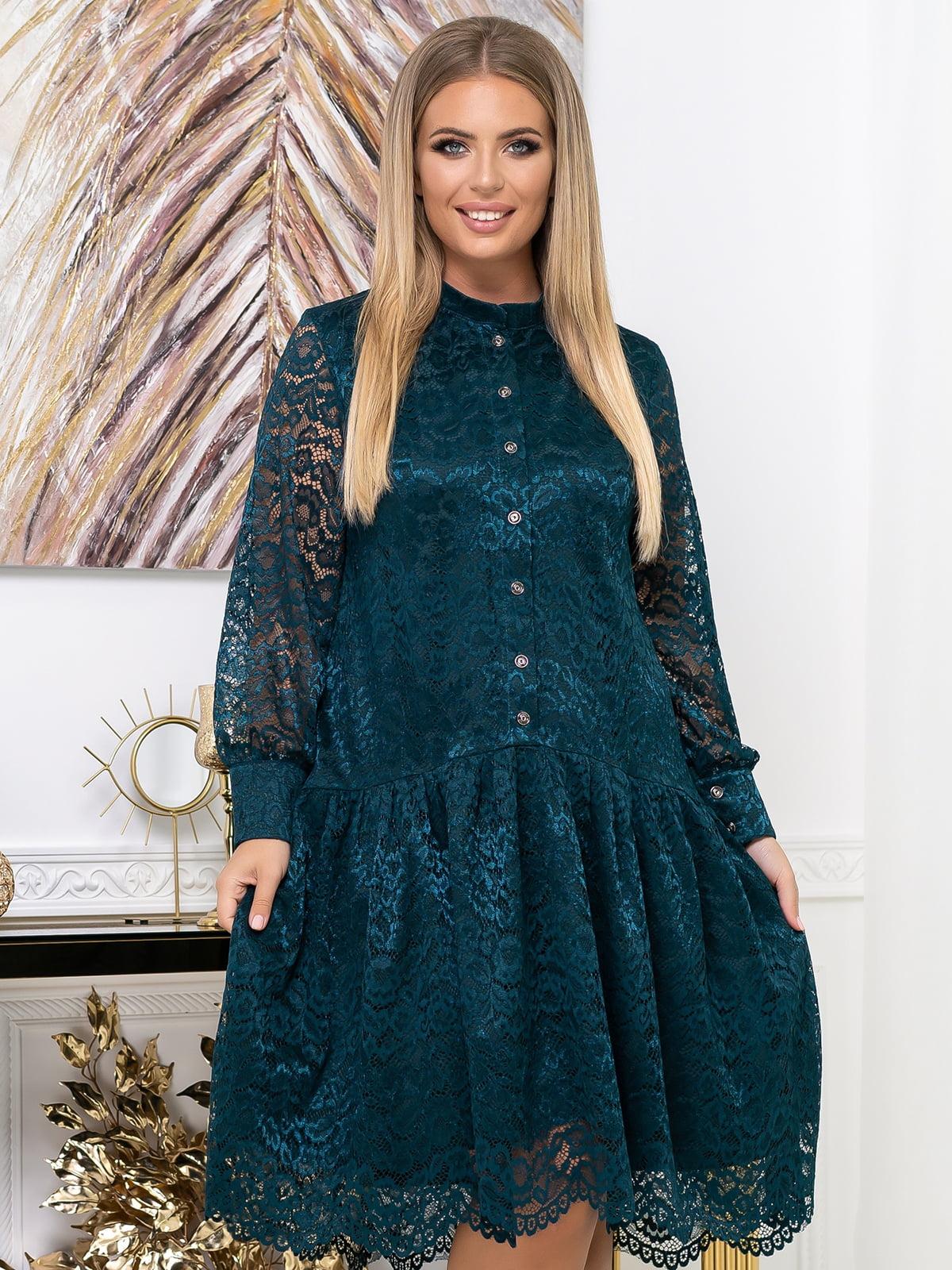 Платье изумрудного цвета | 5574128
