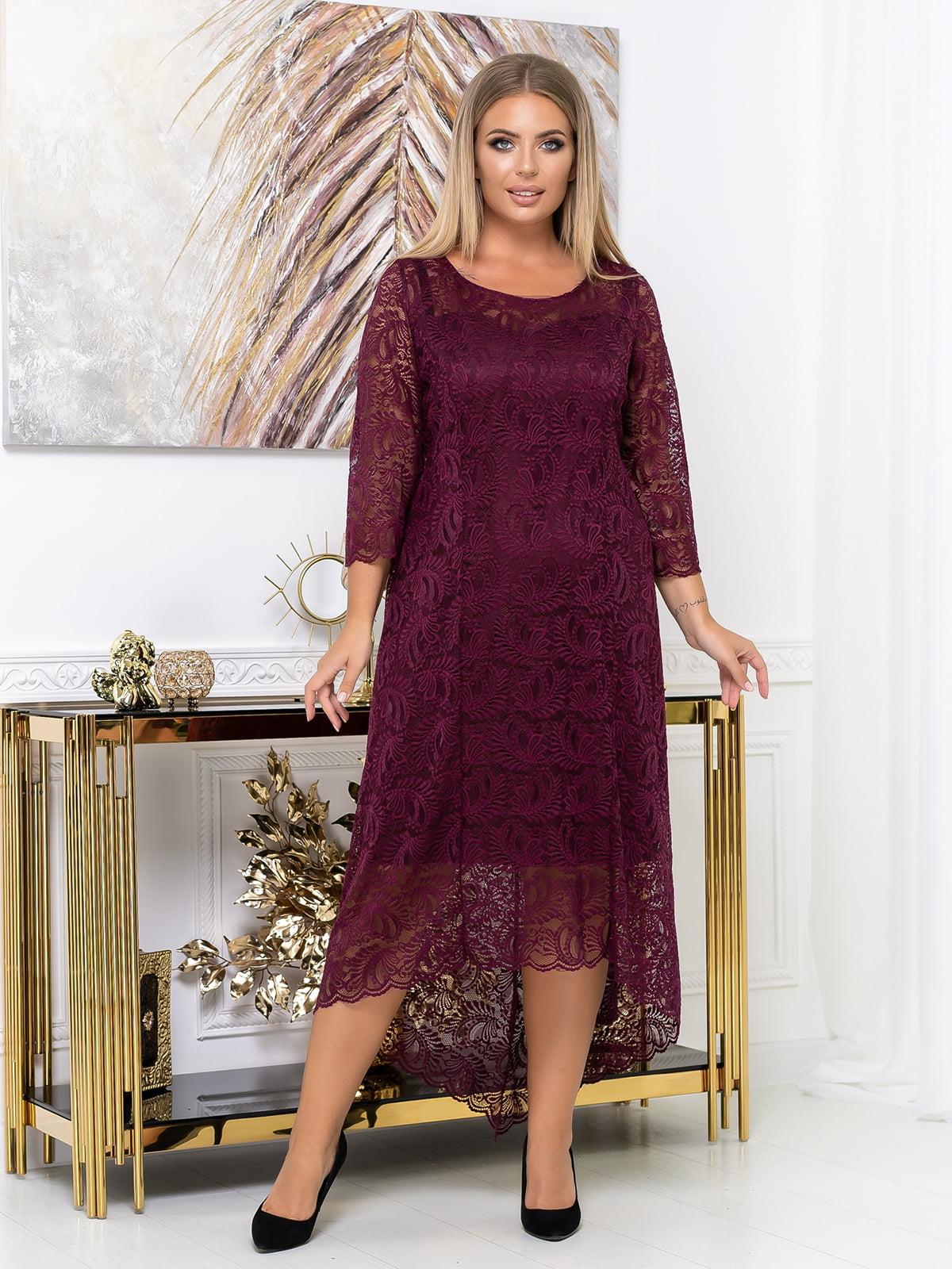 Сукня кольору марсала   5574134