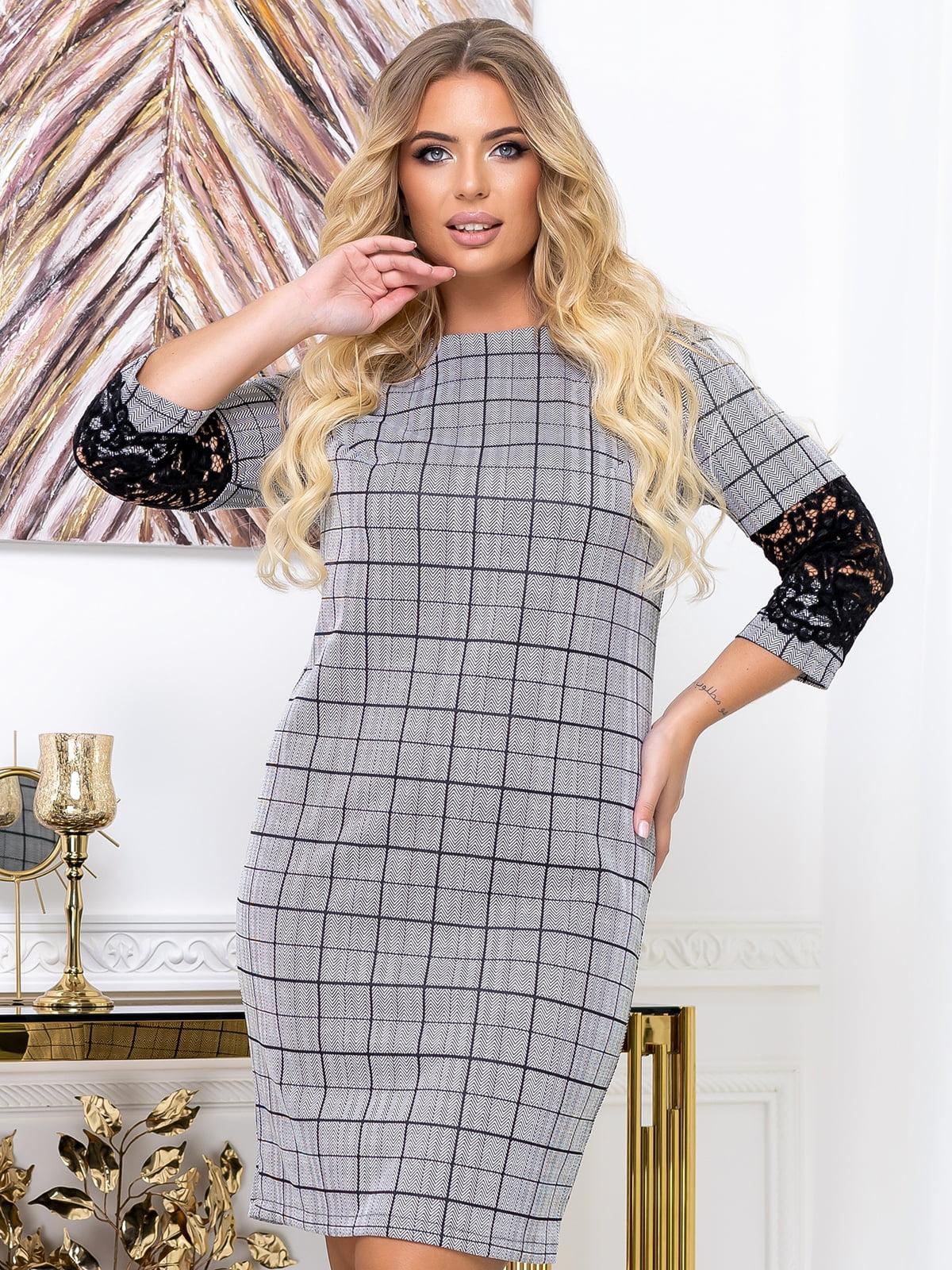 Сукня сіра у принт | 5574147