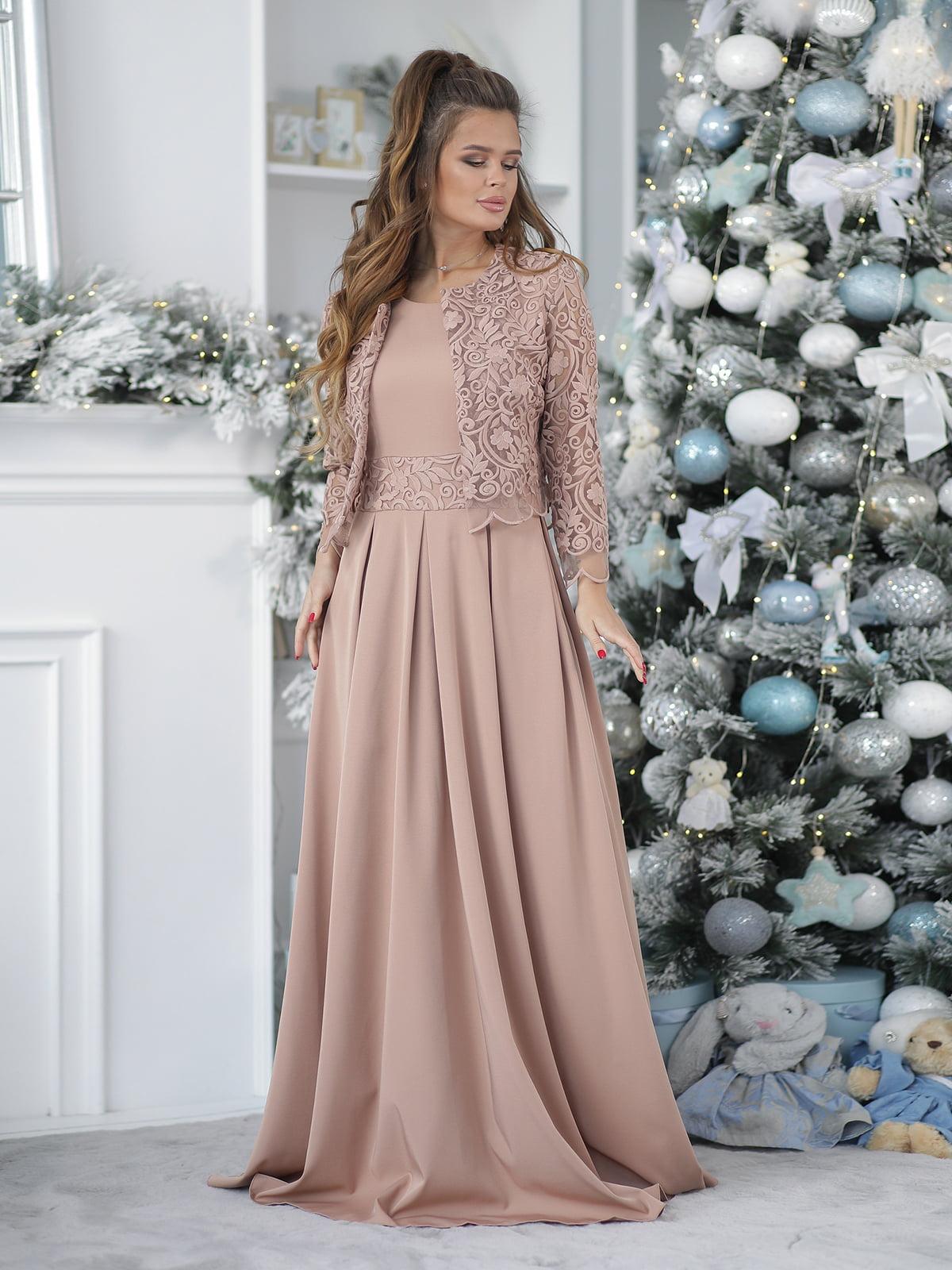 Платье цвета мокко | 5574150