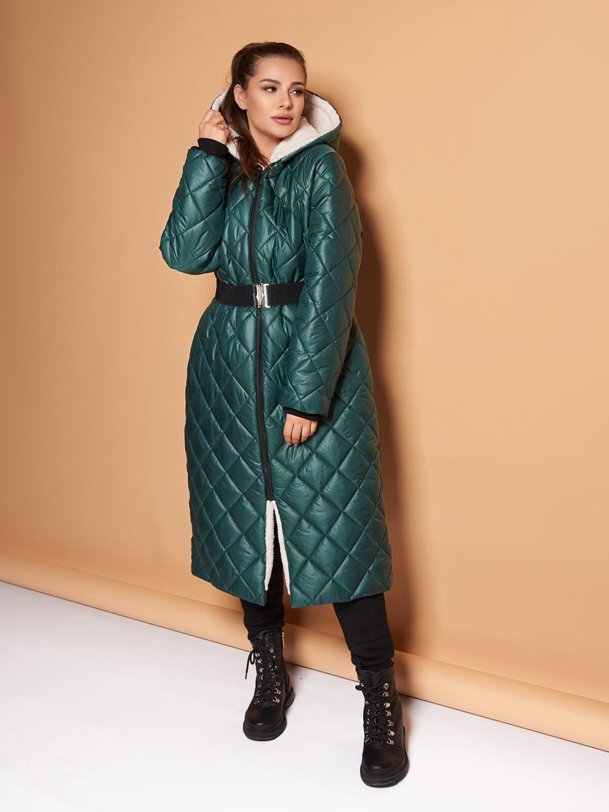 Пальто темно-зелене | 5574067