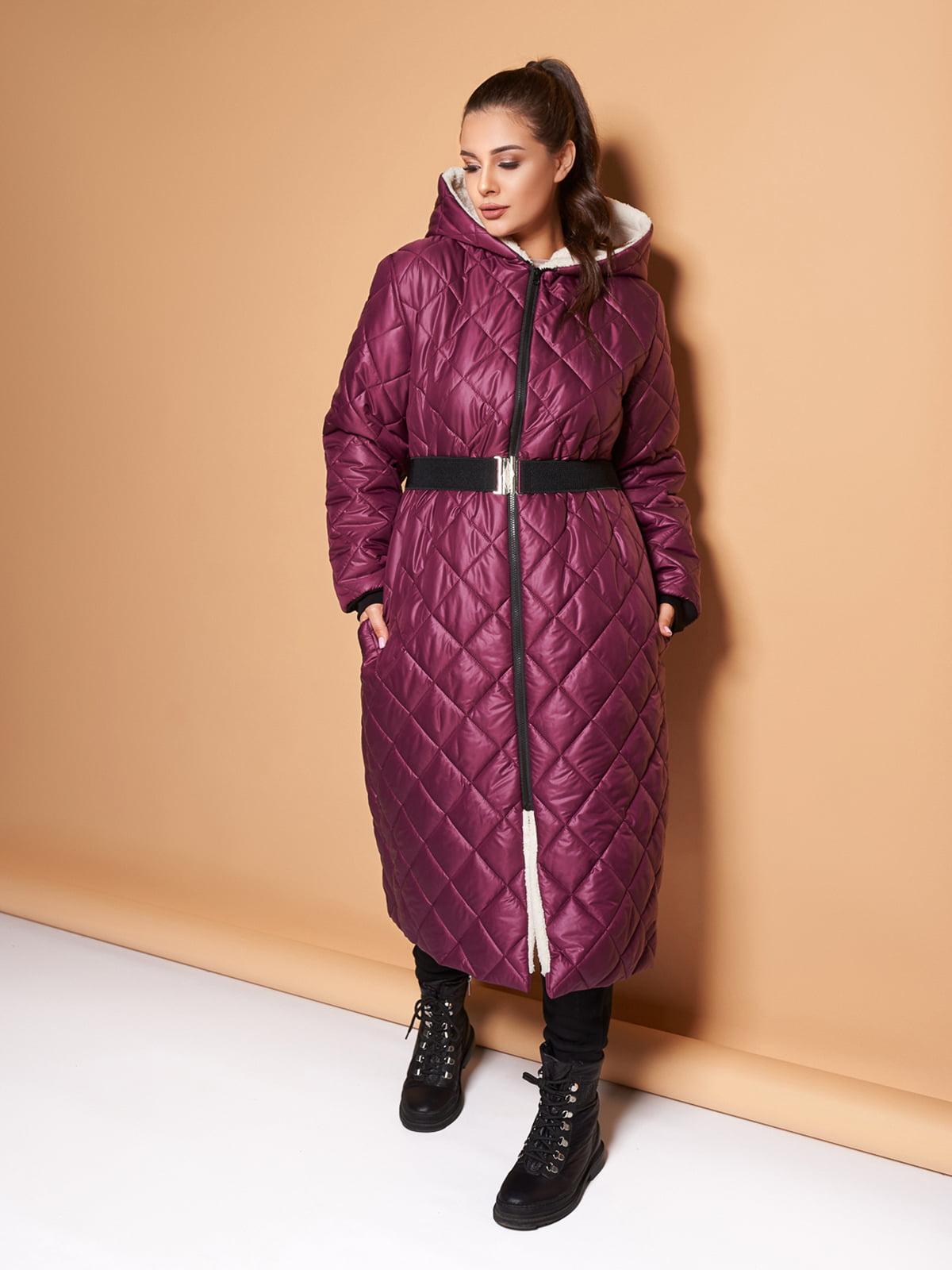 Пальто цвета марсала   5574069