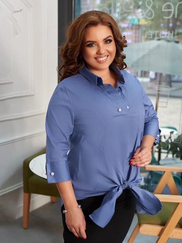 Блуза кольору індиго | 5574374