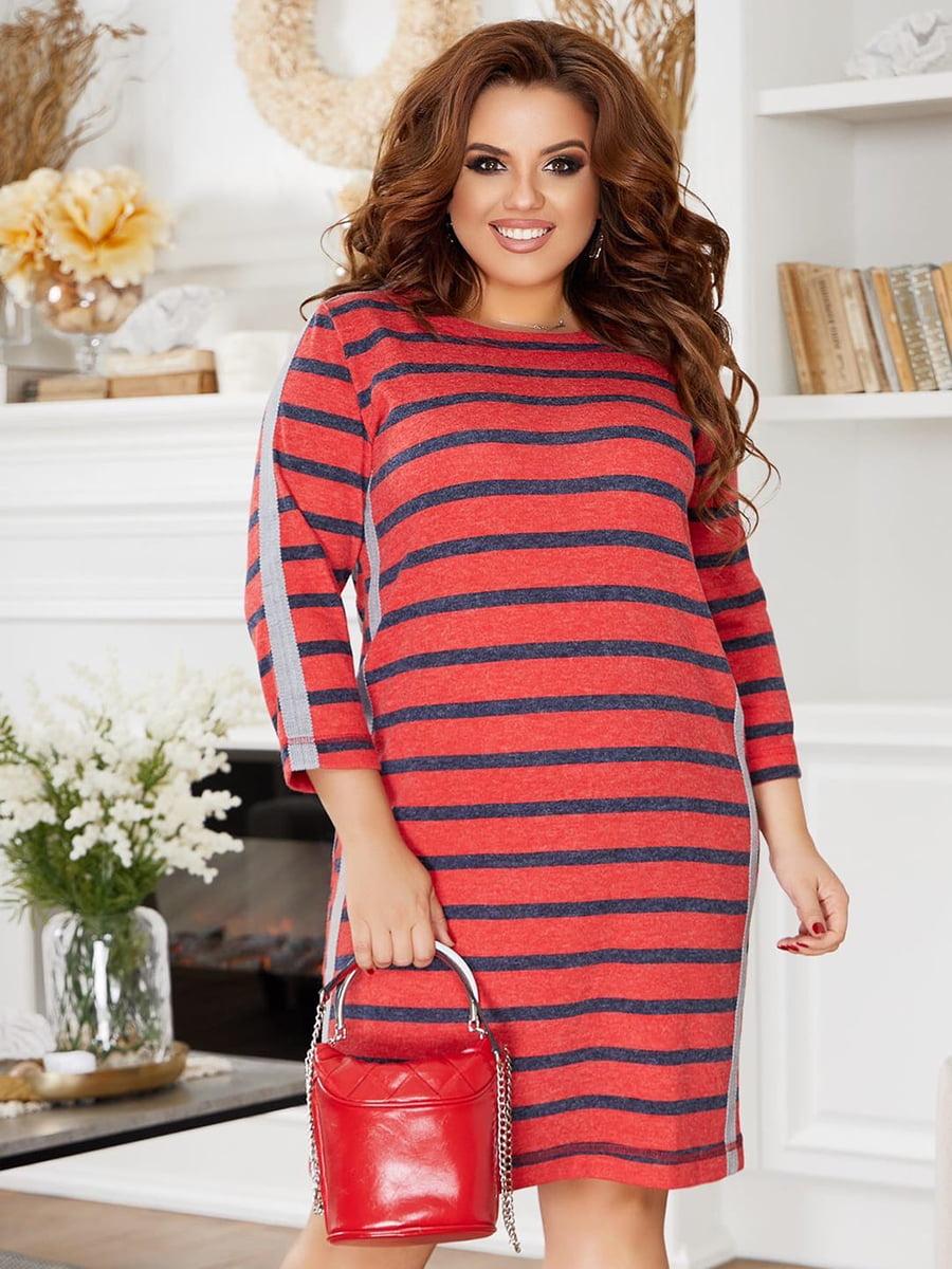 Сукня червона у смужку | 5574393