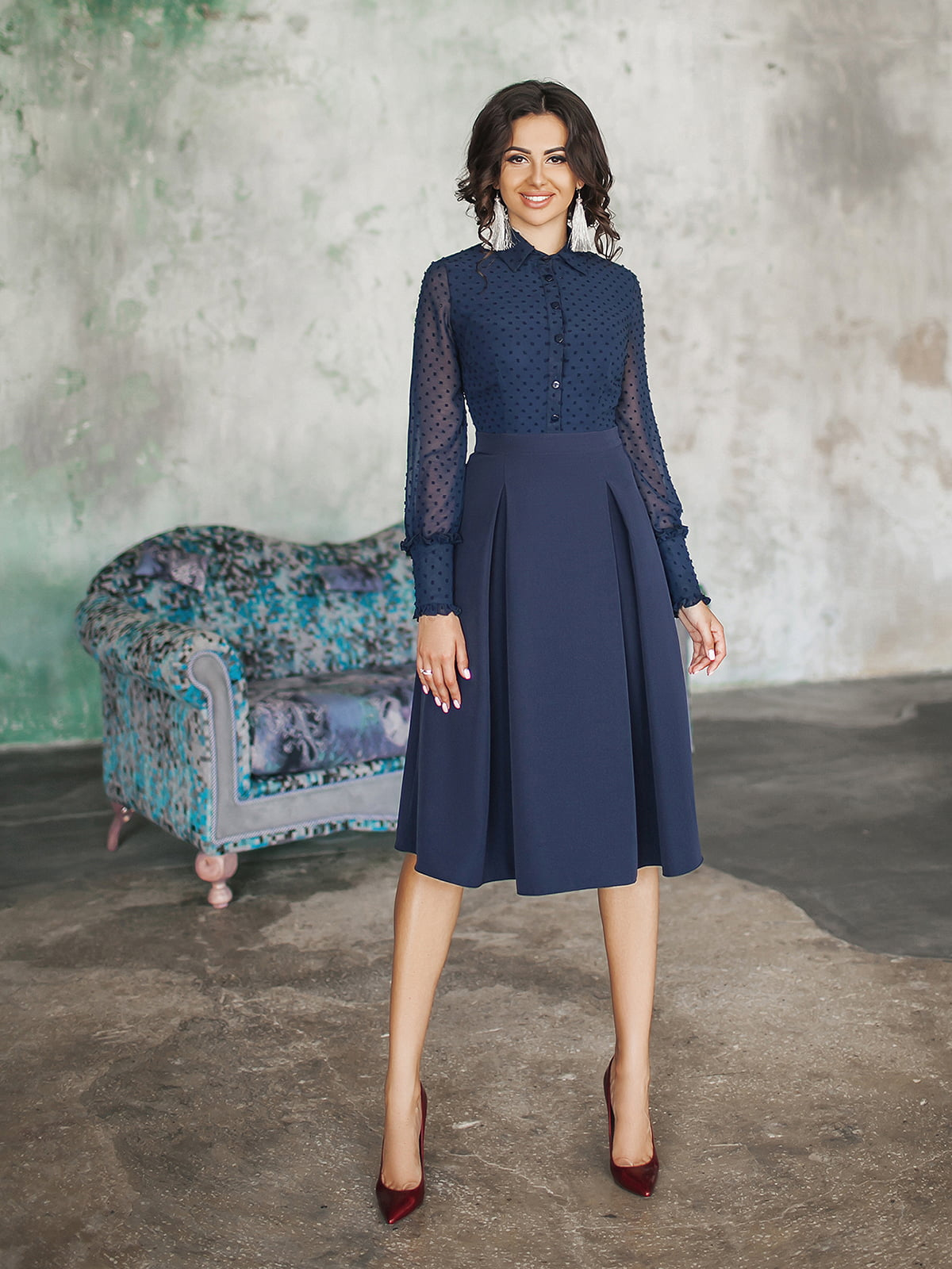 Платье темно-синее | 5574669