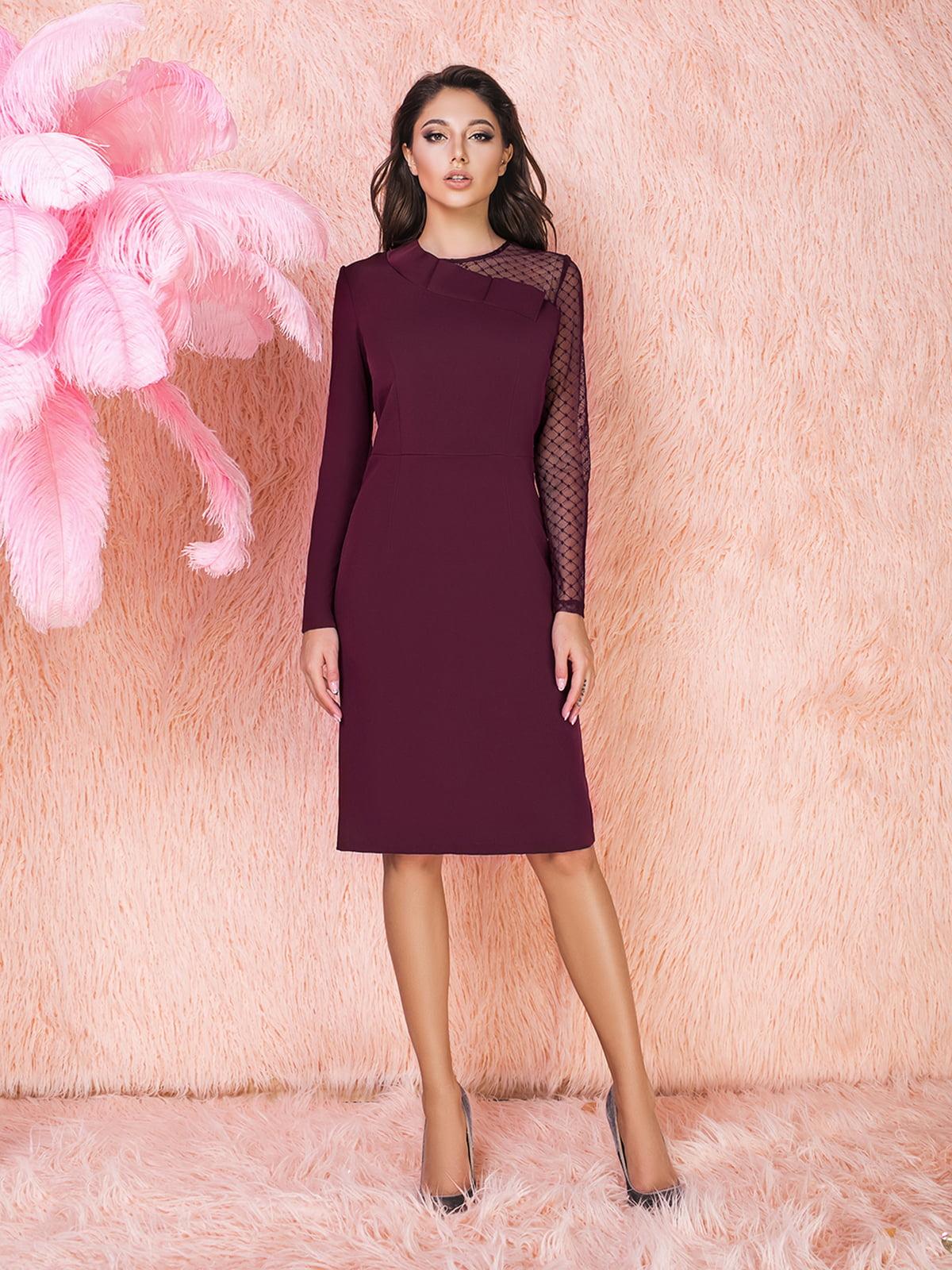 Сукня кольору марсала | 5574682
