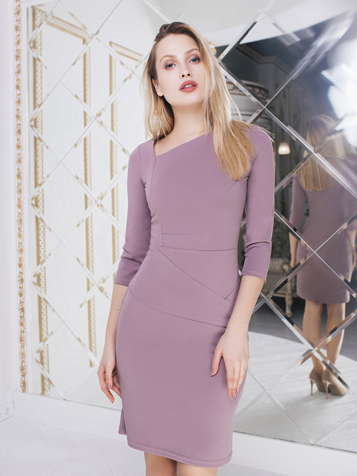 Платье сиреневого цвета | 5574710