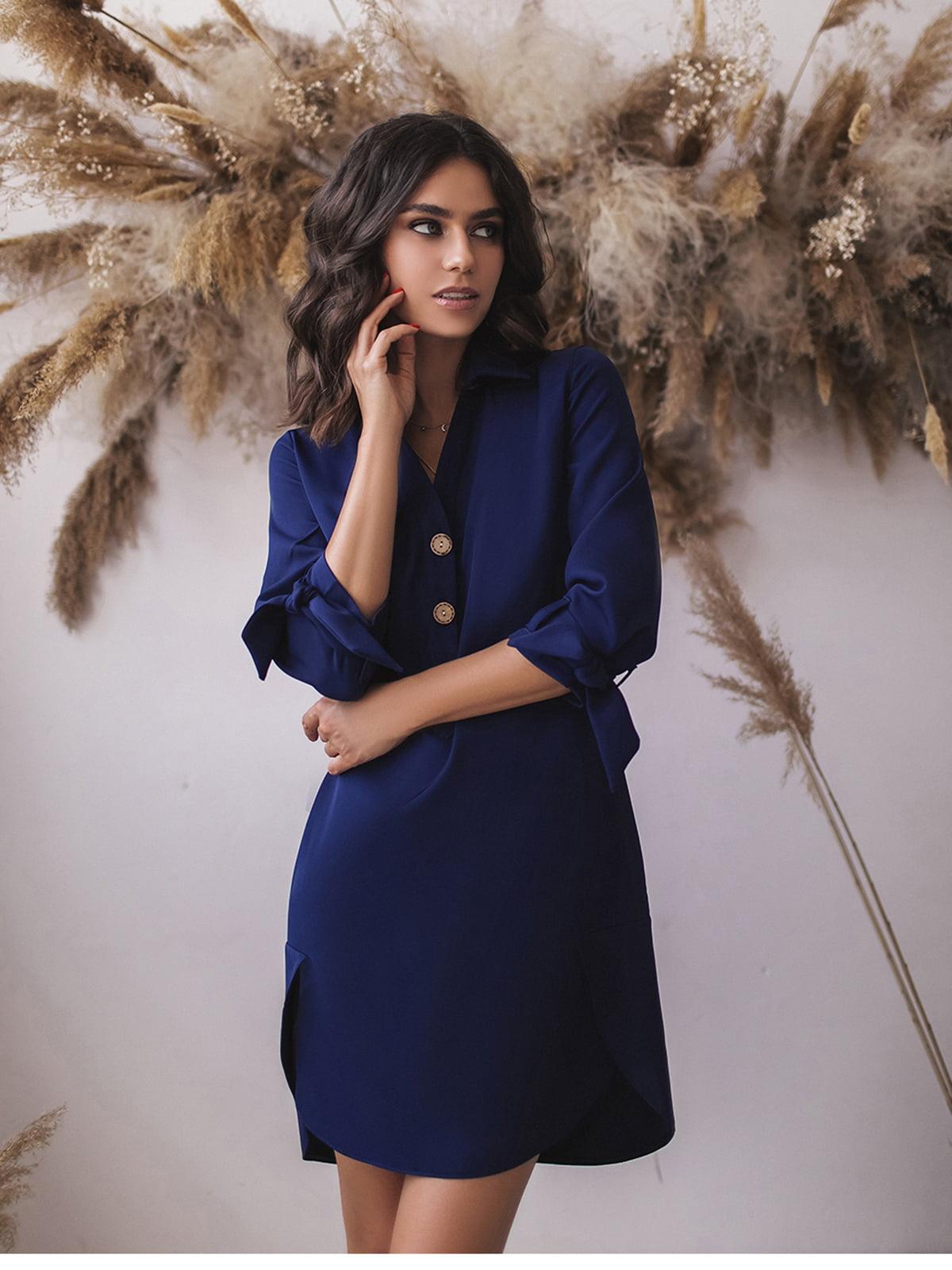 Платье темно-синее | 5574732